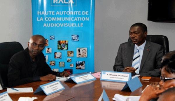 Le pru00e9sident du Repprelci, M. David Youant lors d'une rencontre avec le pru00e9sident de la HACA