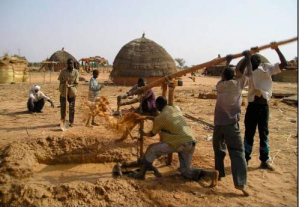 Amenagement d'un forage dans le nord du Su00e9nu00e9gal