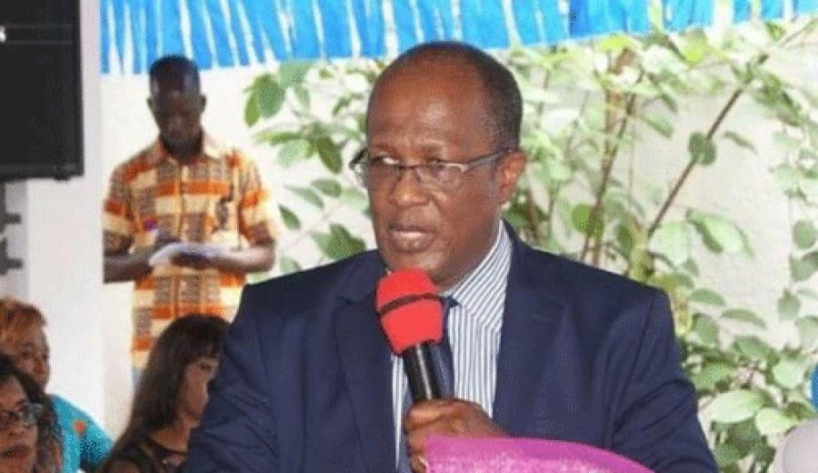 Le Pr Georges Armand-Ouu00e9gnin, pru00e9sident de la plateforme politique Ensemble pour la du00e9mocratie et la souverainetu00e9