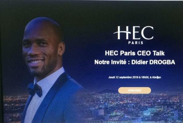 CEO Talk HEC Paris-Abidjan : Didier Drogba face au patronat