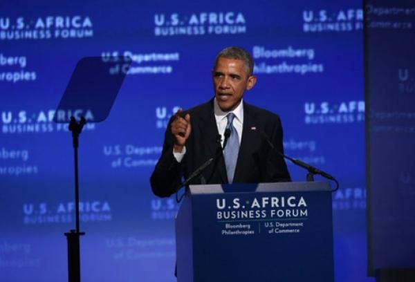 Le pru00e9sident des Etats Unis Barach Obama