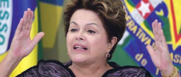 Dilma Roussef, pru00e9sidente du Bru00e9sil.