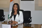 Mme Affoussiata Bamba-Lamine, ministre de la Communication