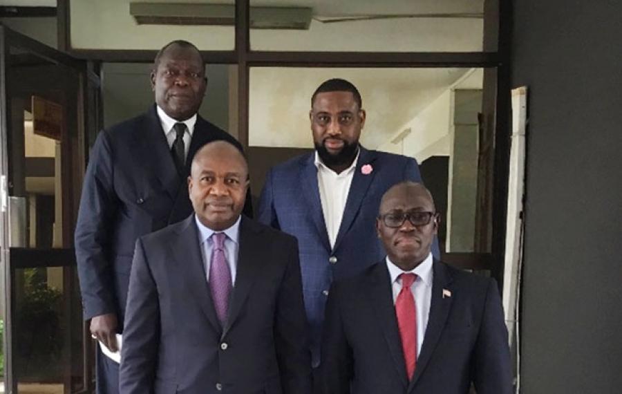 Le nouveau président libérien Georges Weah en visite d'état en Côte d'Ivoire