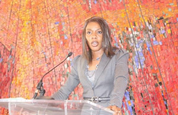Me Affoussiata Bamba-Lamine, porte-parole adjointe et ministre de la Communication de la Cu00f4te d'Ivoire.