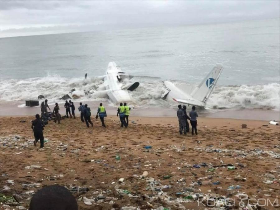Côte d'Ivoire : un avion cargo s'abîme en mer au large d'Abidjan