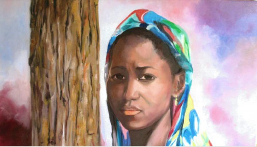 Le peintre Samir Zarour cu00e9lu00e8bre ses 50 ans de peinture sous le patronage du2019Henri Konan Bu00e9diu00e9 et proposera des toiles inspiru00e9es et inspirantes comme le tableau u00ab Rendez-vous manquu00e9 u00bb.