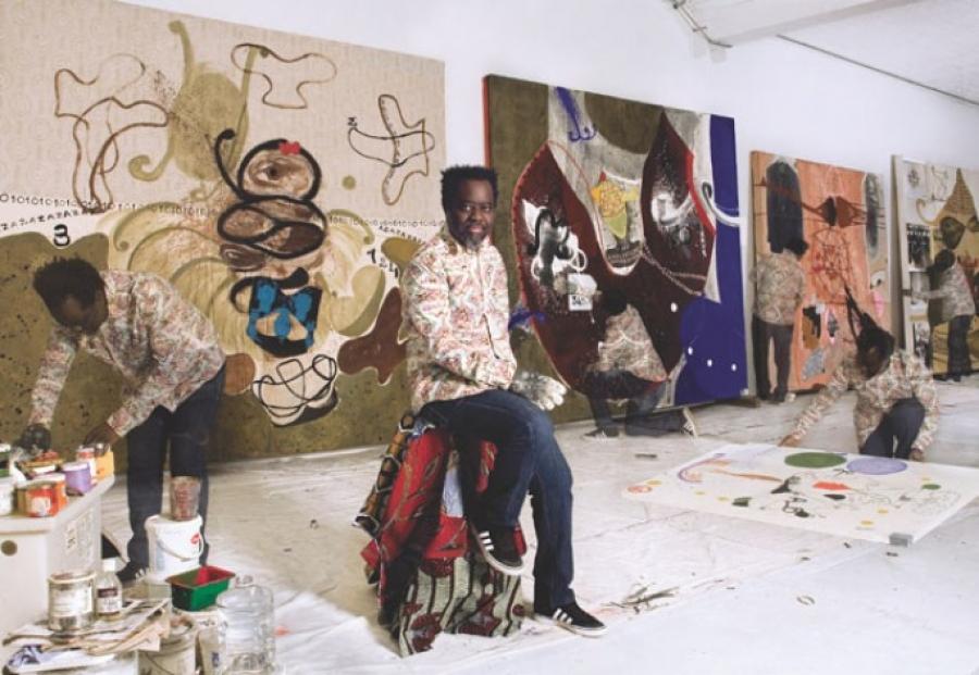 Les u0153uvres de Ouattara Ouatts illumineront les plateaux de lu2019exposition itinu00e9rante u00ab Pru00eate-moi ton ru00eave u00bb