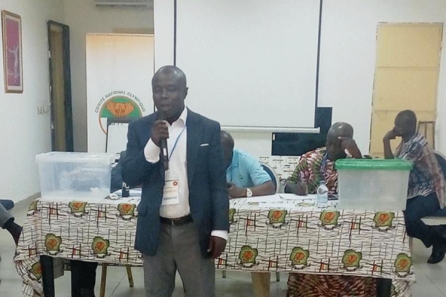 Allou Honoru00e9 Kadjo, nouveau pru00e9sident de la Fu00e9du00e9ration ivoirienne de lutte (Fil).