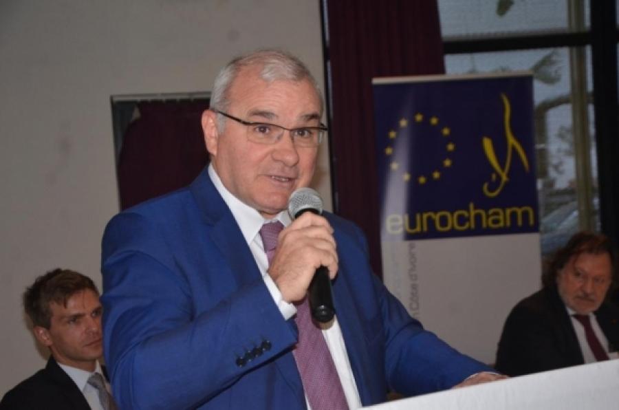 Marc Alberola, DG et administrateur gu00e9nu00e9ral du groupe Eranove, pru00e9sident de la Chambre de Commerce europu00e9enne en Cu00f4te du2019Ivoire