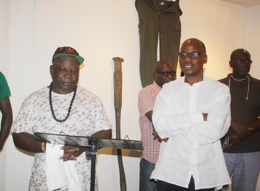 Le professeur Yacouba Konatu00e9 et Barthelemy Toguo