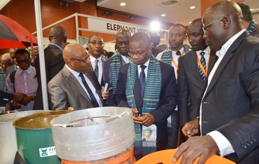 Le ministre (au centre) a invitu00e9 les experts u00e0 proposer des solutions innovantes et raisonnables aux gouvernements africains.