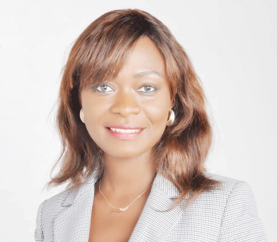 Evelyne Ahono, pru00e9sidente de l'Association des juristes d'entreprise.