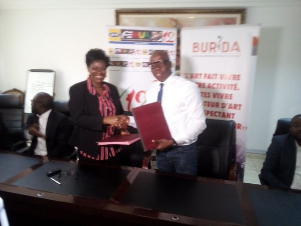 Signature de convention de partenariat: Le Burida et Gaou Productions ensemble pour le Femua 12