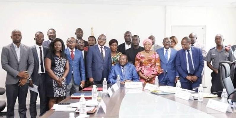 Le ministre de l'Emploi et de la Protection sociale, Pascal Kouakou Abinan lors de la réunion internationale (DR)
