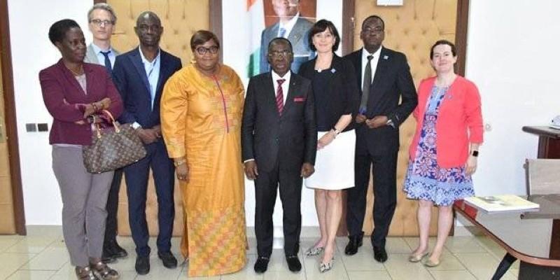 Une délégation conjointe de l'Unité de coordination du Partenariat de Ouagadougou et du Pf 2020 en visite en Côte d'Ivoire. (DR)