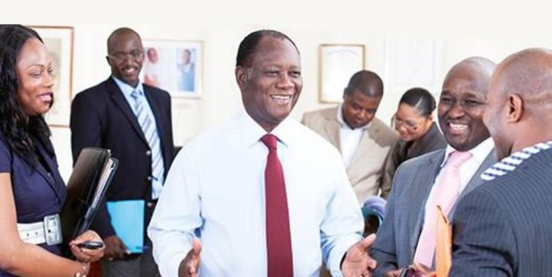 Le Président de la République Alassane Ouattara en blanc. (DR)