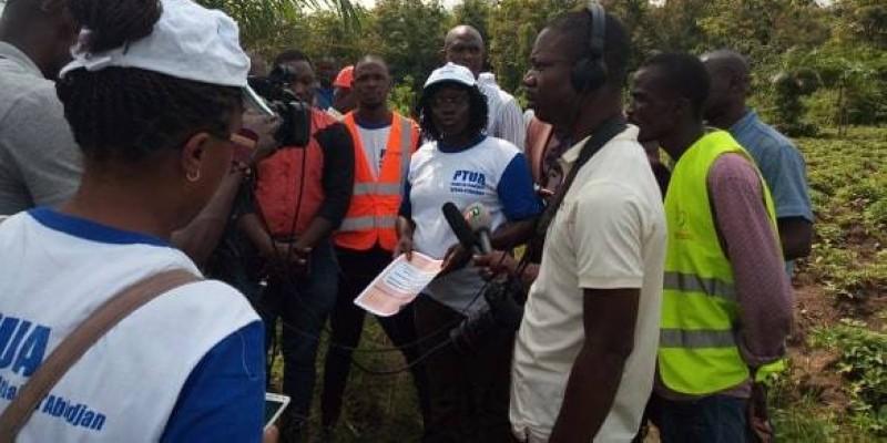 Mme Coulibaly Salimata Tiégbala, coordonnateur adjoint, du Ptua a conduit la visite des sites (DR)