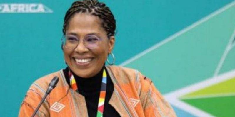 Nathalie Yamb, conseillère de M. Mamadou Koulibaly. (DR)
