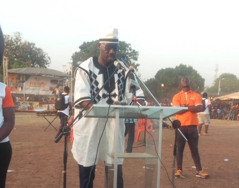 Le président du Conseil régional du Bounkani, Philippe Hien à l'ouverture du Festibo 2019