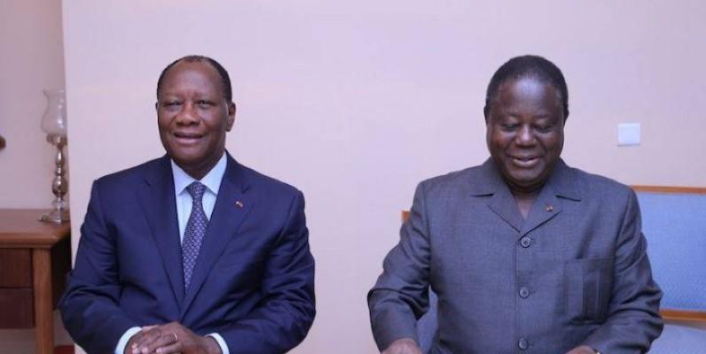 Le Président Alassane Ouattara et le Président Henri Konan Bédié. (DR)