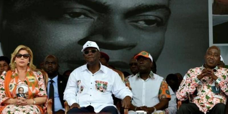 Les militants du RHDP étaient nombreux à Yamoussoukro pour l'hommage au Président Houphouët-Boigny. (DR)