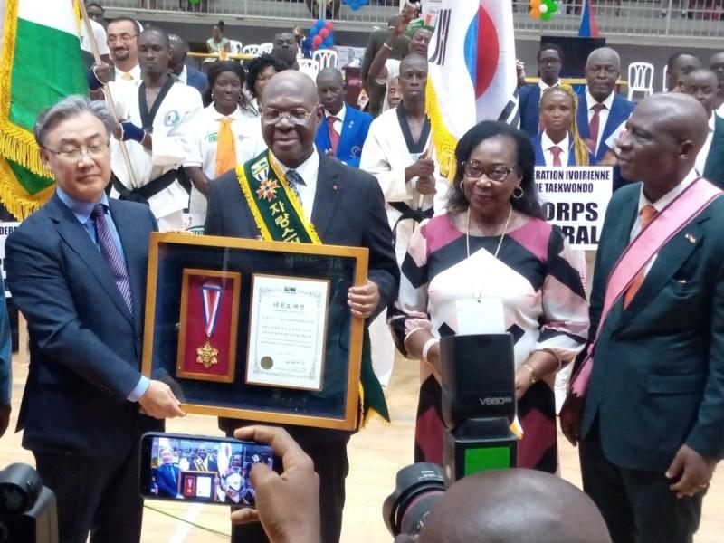 L'ancien président de la Fédération ivoirienne de taekwondo a été honoré, officiellement, le week-end, à Treichville. (DR)
