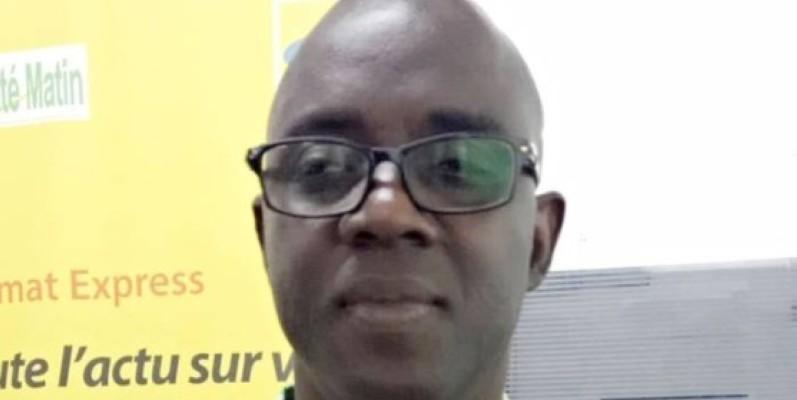 Kouadio Yao Théodore, Secrétaire général de la rédaction, un des récipiendaires. (Clément Fodio)