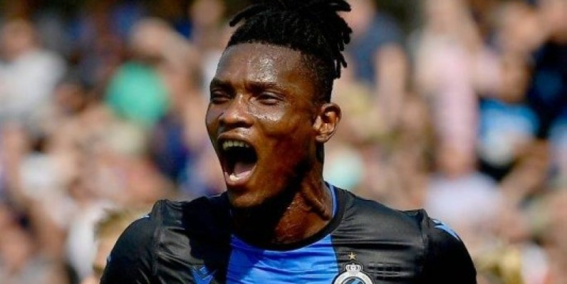 BRUGGE, BELGIUM - SEPTEMBER 1 : Simon Deli defender of Club Brugge celebrates scoring a goal during the Jupiler Pro League match between Club Brugge and KRC Genk at the Jan Breydel stadium on September 01, 2019 in Brugge, Belgium, 1/09/2019 ( Photo by Peter De Voecht / Photonews  via Getty Images)