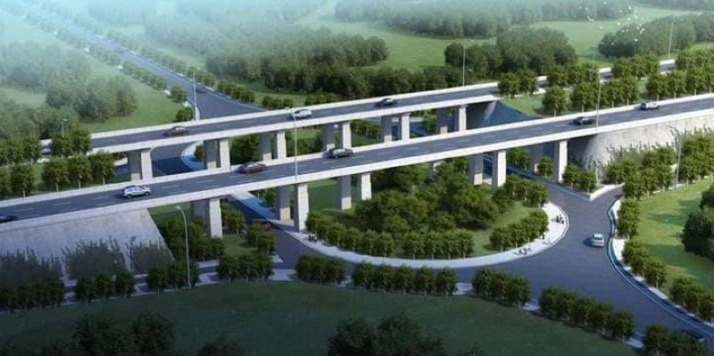 Une vue du futur 4è pont d'Abidjan. (DR)