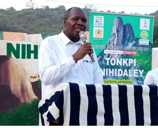 Le ministre Albert Toikeusse Mabri a lancé la 3e édition du Tonkpi Nihidaley. (DR)