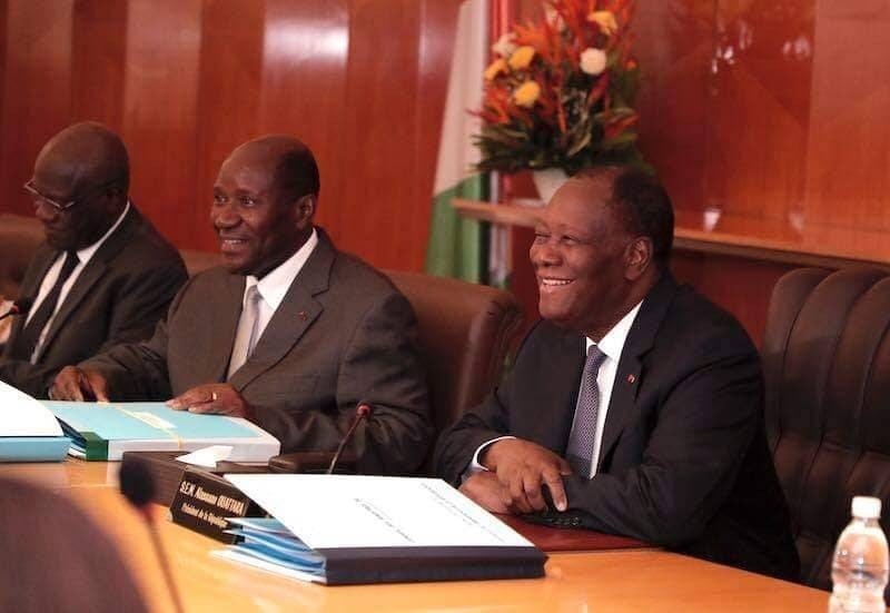 Le Président de la République Alassane Ouattara au Conseil des ministres du 11 décembre 2019
