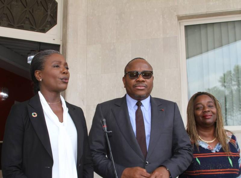 La responsable de l'Onu-femmes en Côte d'Ivoire à sa sortie d'audience avec le président de la CEI (DR)