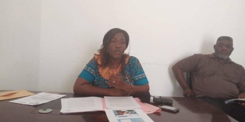 Mme Dion Micheline, présidente de l'Union des sociétés coopératives des femmes de la pêche et assimilées de Côte d'Ivoire. (DR)