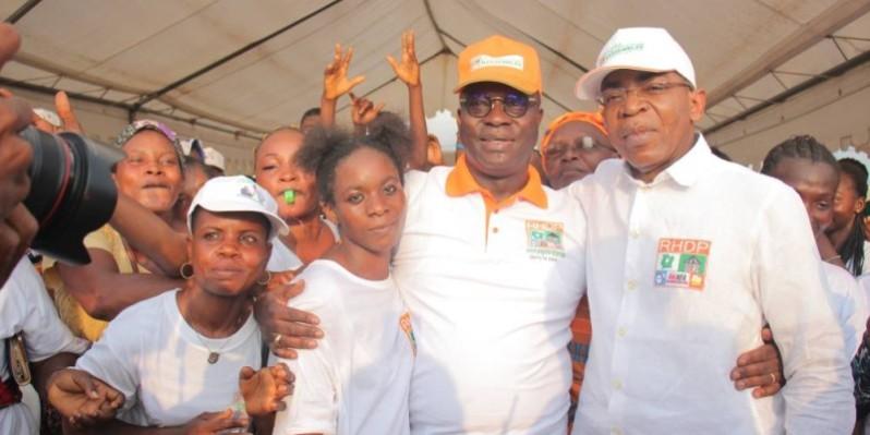 La jeunesse des Grands-ponts a démontré, par sa forte mobilisation, son engagement derrière le Président du Rhdp.(DR)