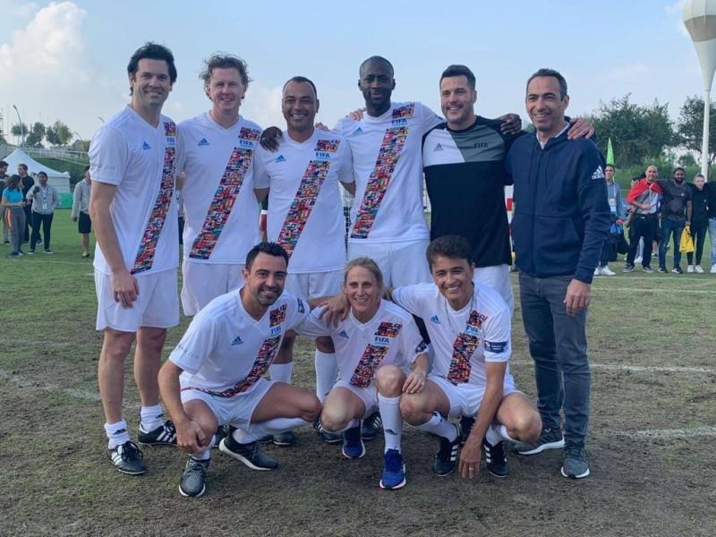 Yaya Touré et d'autres stars du ballon rond prennent part, au Qatar, au Festival international de la jeunesse 2019. (DR)
