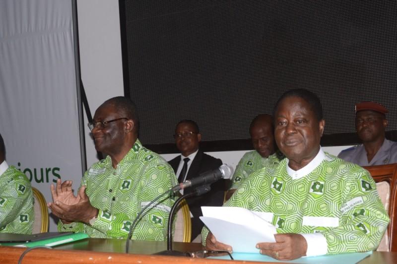 La réunion du bureau politique a été présidée par Henri Konan Bédié. (Monsan Julien)