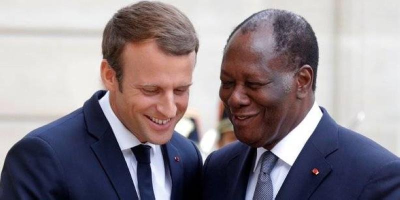 Emmanuel Macron et Alassane Ouattara. (DR)