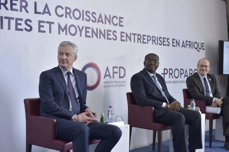 La question du financement des Pme au centre des échanges entre les parties française et ivoirienne. (DR)