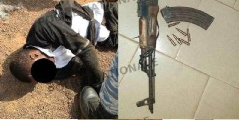 Les éléments de la Police et de la Gendarmerie ont pu mettre la main sur l'un des braqueurs (DR).