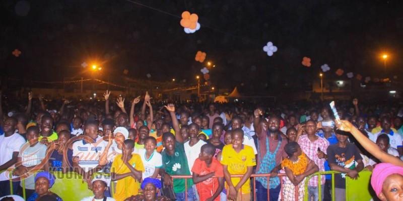 La population de Koumassi a été gratifiée d'un concert à la fin des journées sportives et socio-culturelles. (DR)