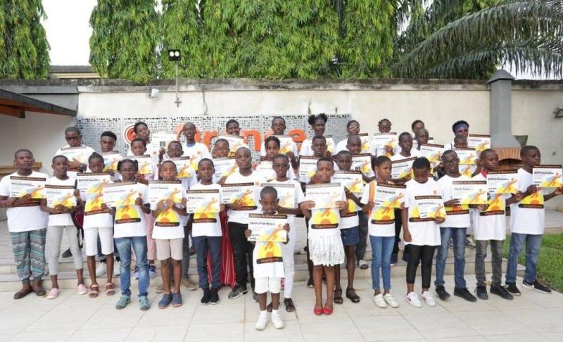 Les jeunes formés ont reçu des diplômes de participation (DR)