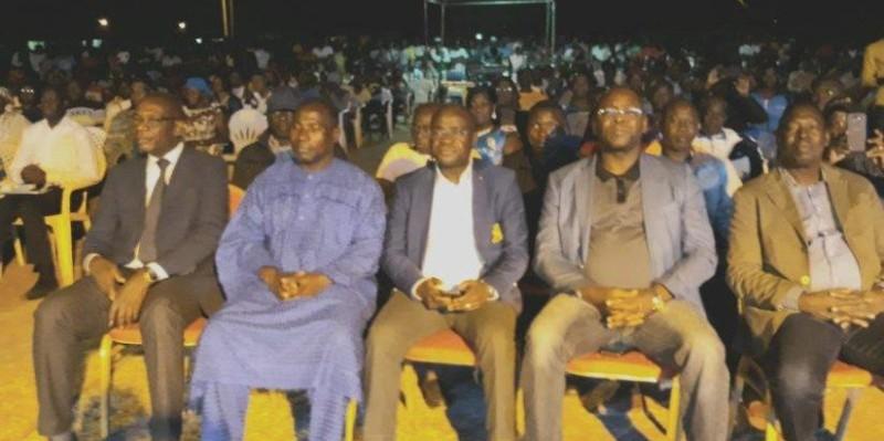 Une vue des autorités au Stade Nanlo Bamba, lors du concerto offert par Amadou Gon Coulibaly. (Aip)
