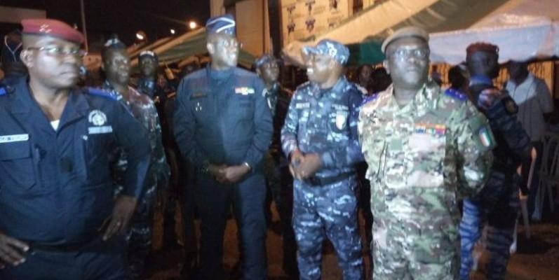La haute hiérarchie militaire lors de leur passage à la paroisse Saint Jean de Cocody. (Aip)