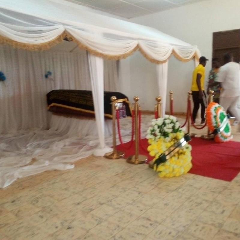 Le maire de Sinfra a eu droit à un hommage digne de son rang avant son inhumation. (DR)