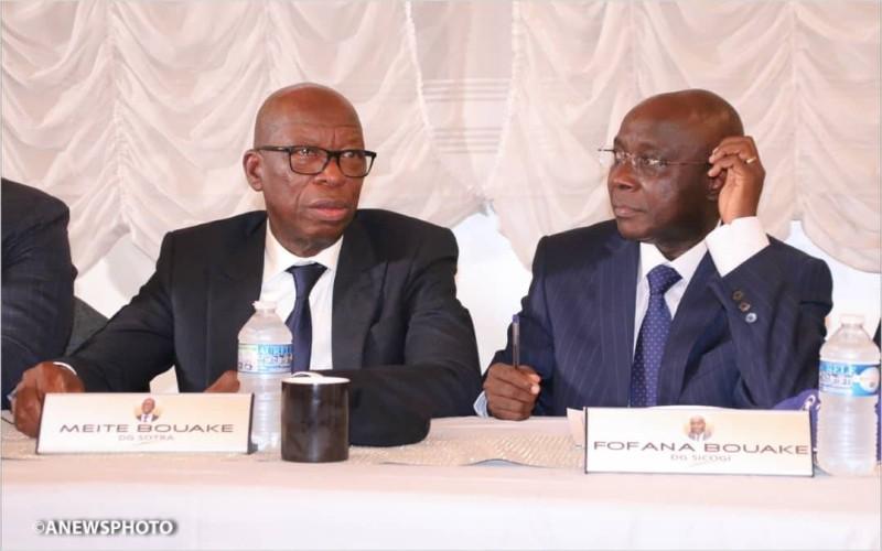 Les directeurs généraux, Bouaké Fofana et Méité Bouaké (DR)