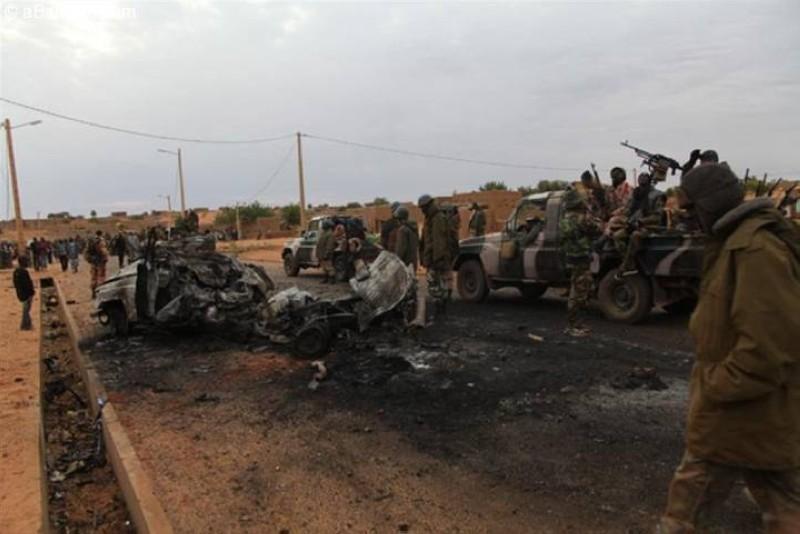 Les localités de Douentza et Gossi ont été libérées les 14 et 15 janvier 2013 par les forces armées française et malienne. (Dr)