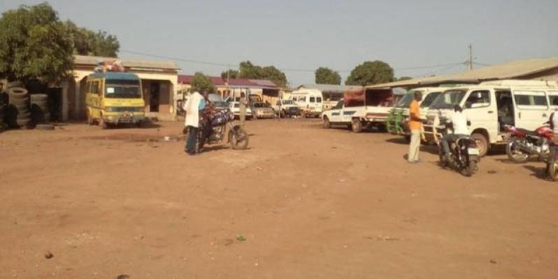 Le transport paralysé à Doropo, après l'annonce du décès de Wattao. (DR)