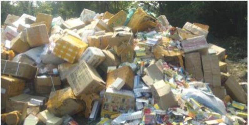 Plus de 21 tonnes de produits prohibés ont été incinérés. (DR)