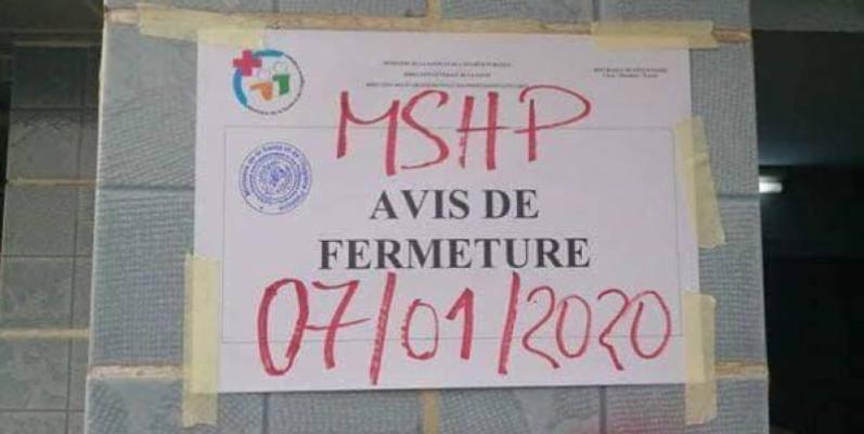 La clinique Grand centre de Yopougon fermée par le ministère de tutelle. (DR)